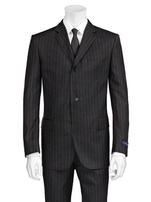 Tessuto Zegna pinstriped dark grey Suit