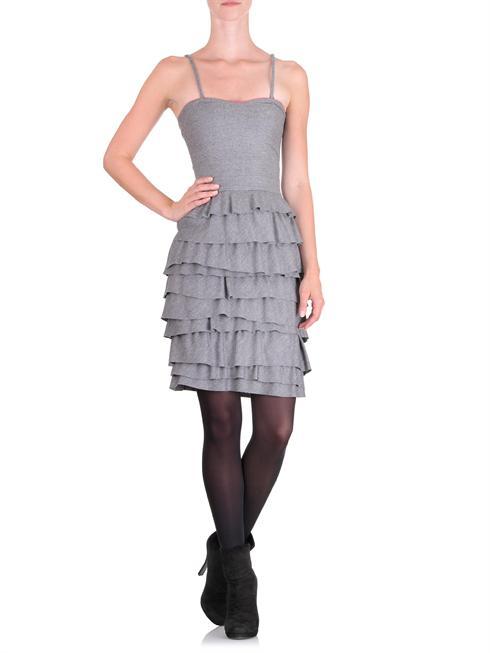 Cavalli Class grey tiered ruffle Dress