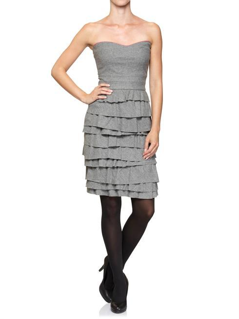 Cavalli Class grey bustier gown