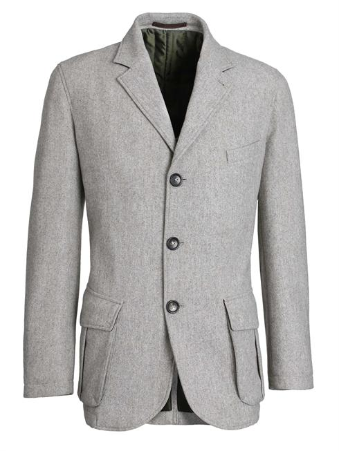 Luciano Barbera light grey Jacket