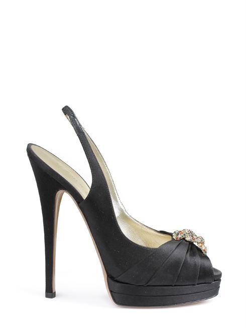 CASADEI-Schuhe-schwarz-Leder-Satin