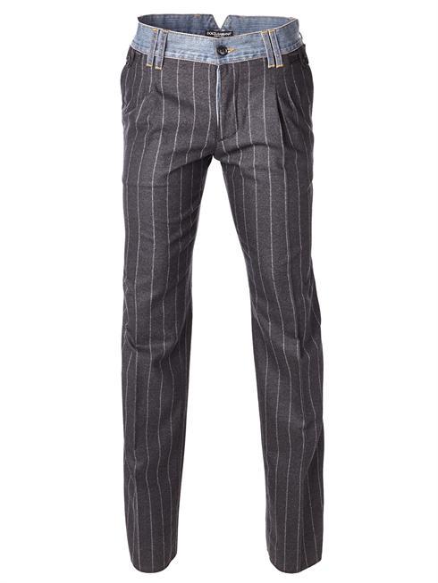 Dolce & Gabbana pinstriped grey Pants