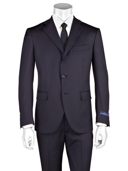 Tessuto Zegna dark blue Suit