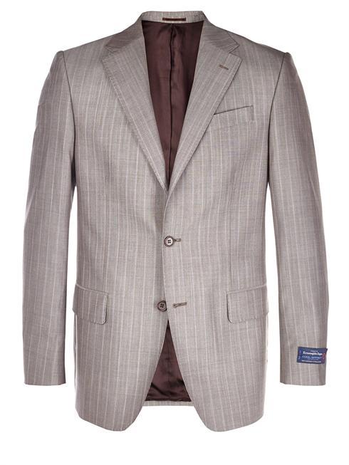 Tessuto Zegna pinstriped grey Jacket