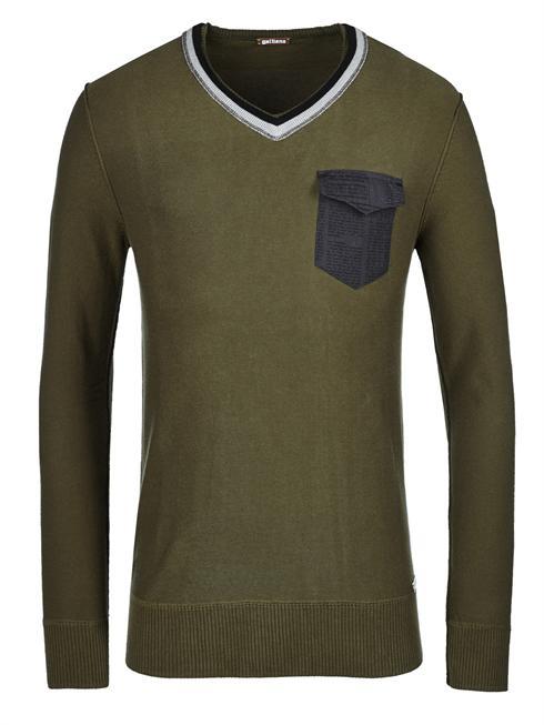 Galliano green Pullover