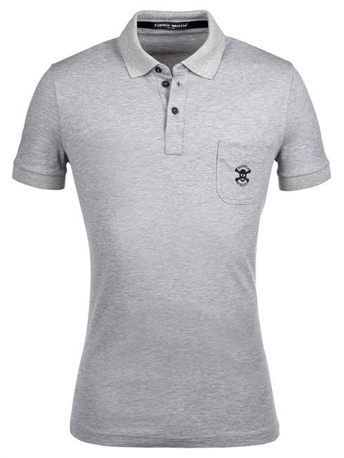 Frankie Morello grey Polo T-Shirt