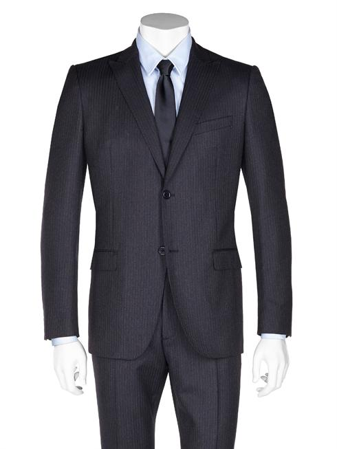 Calvin Klein pinstriped dark grey Suit