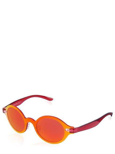 Artikel klicken und genauer betrachten! - Try Sonnenbrille. Rote Gläser mit UV-Schutz. Runde Form. Leichtes Kunststoffgestell in rot. Einfacher Nasensteg . Verstellbare Nasenpolster aus Silikon. Schmale Bügel . Modell TH50005 | im Online Shop kaufen