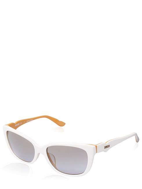 Artikel klicken und genauer betrachten! - Moschino Sonnenbrille. Gläser mit UV-Schutz. Leichtes Kunststoffgestell. Geformte Nasenpolster. Schmale Bügel mit Moschino Logo. Modell MO740S03 | im Online Shop kaufen