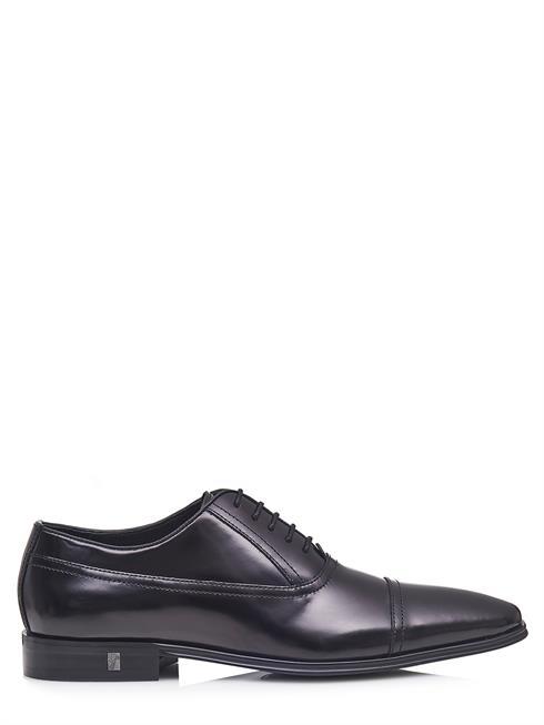 Versace Collection zapatos zapatos v90330s vm00029 negros 100% cuero Leather
