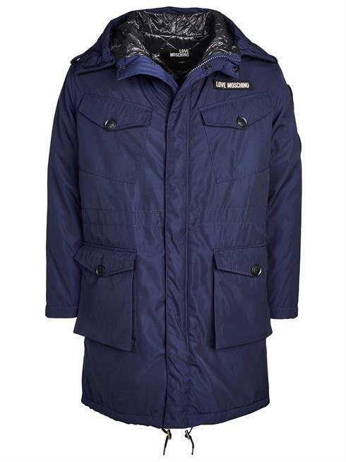 offizielle Fotos kinder Preis vergleichen Details zu LOVE MOSCHINO Jacke / Jacket M K 114 80 T 7978 blau