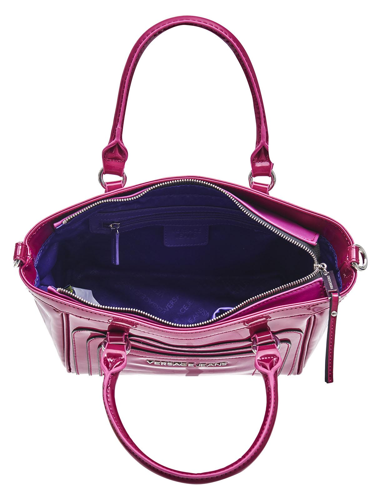 versace jeans couture tasche e1vibbl6 pink kunstleder ebay. Black Bedroom Furniture Sets. Home Design Ideas