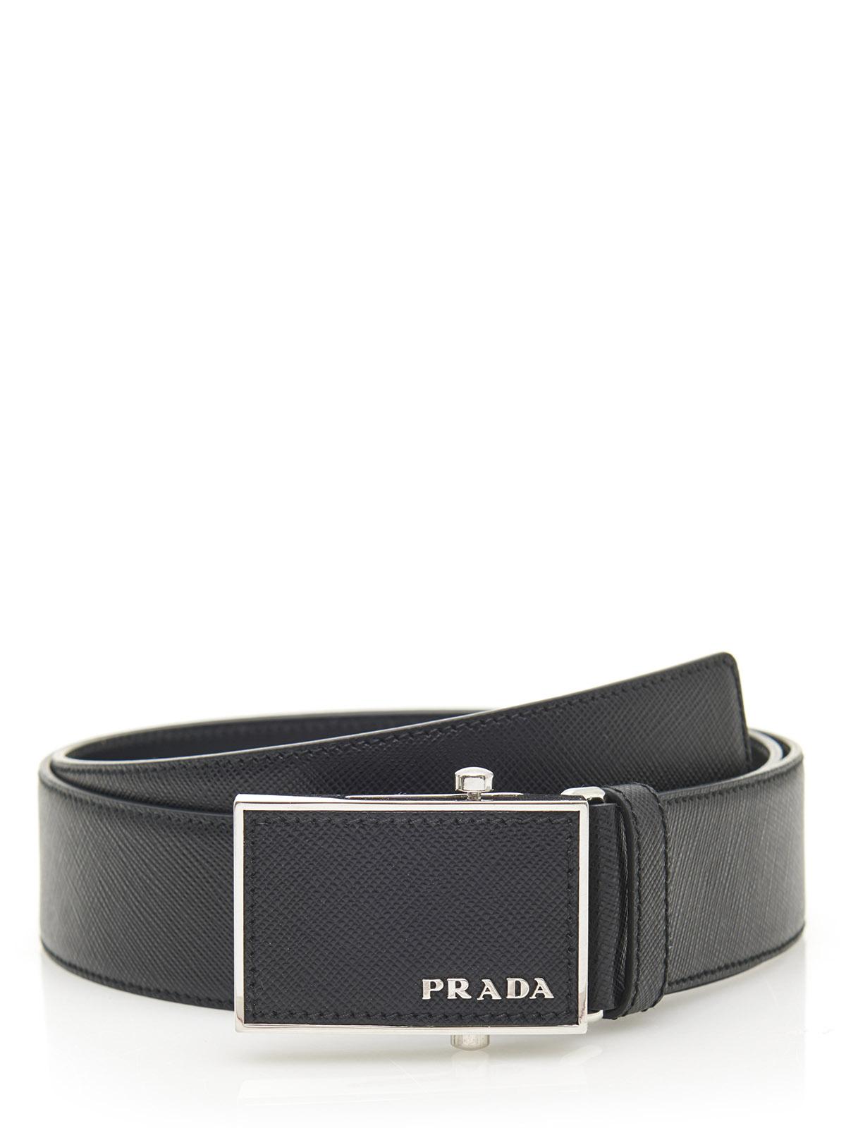 PRADA Belt 2CM011 Black Leather