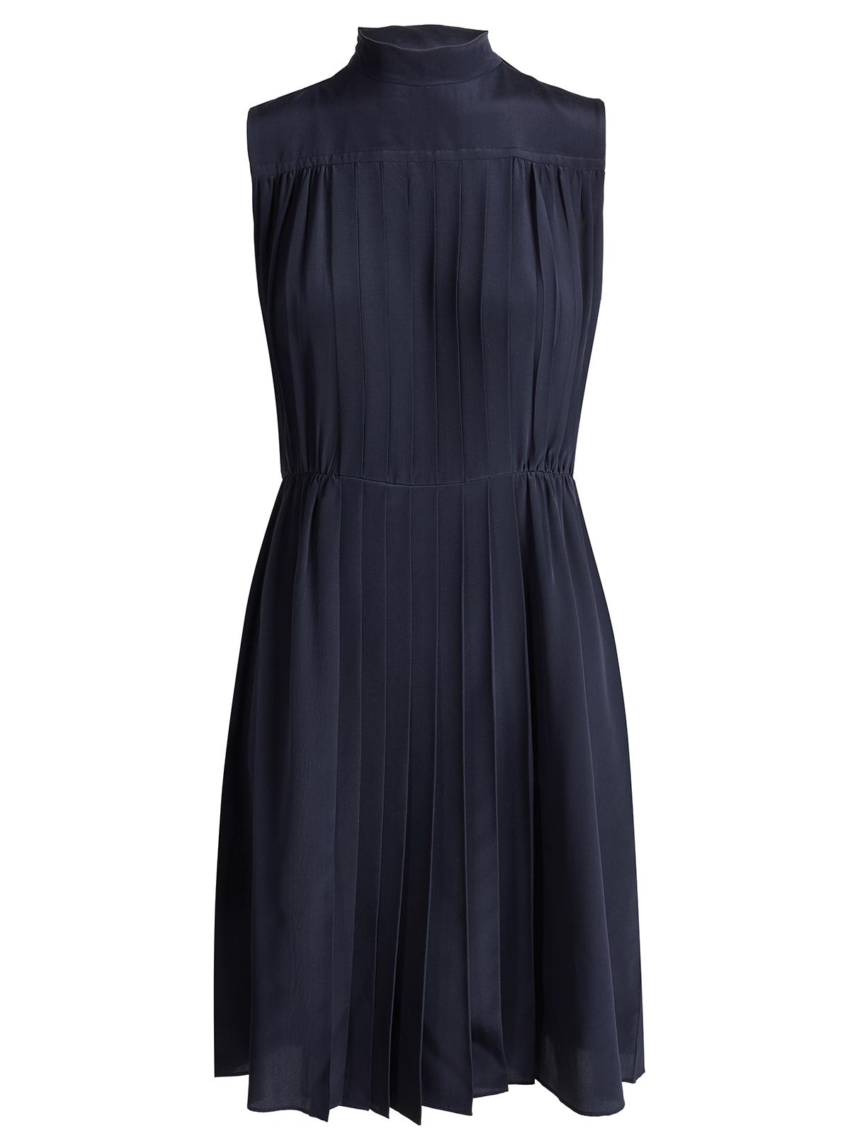 miumiu kleid dress mf1771 dunkelblau 100 seide silk ebay. Black Bedroom Furniture Sets. Home Design Ideas