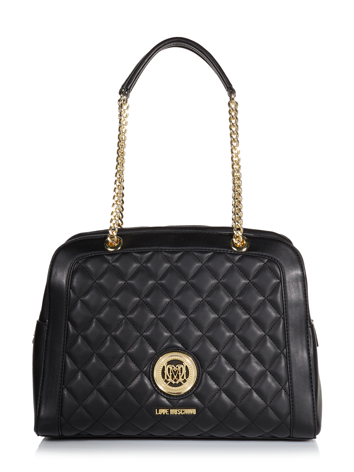 moschino tasche jc4006pp11la0000 schwarz polyurethan ebay. Black Bedroom Furniture Sets. Home Design Ideas