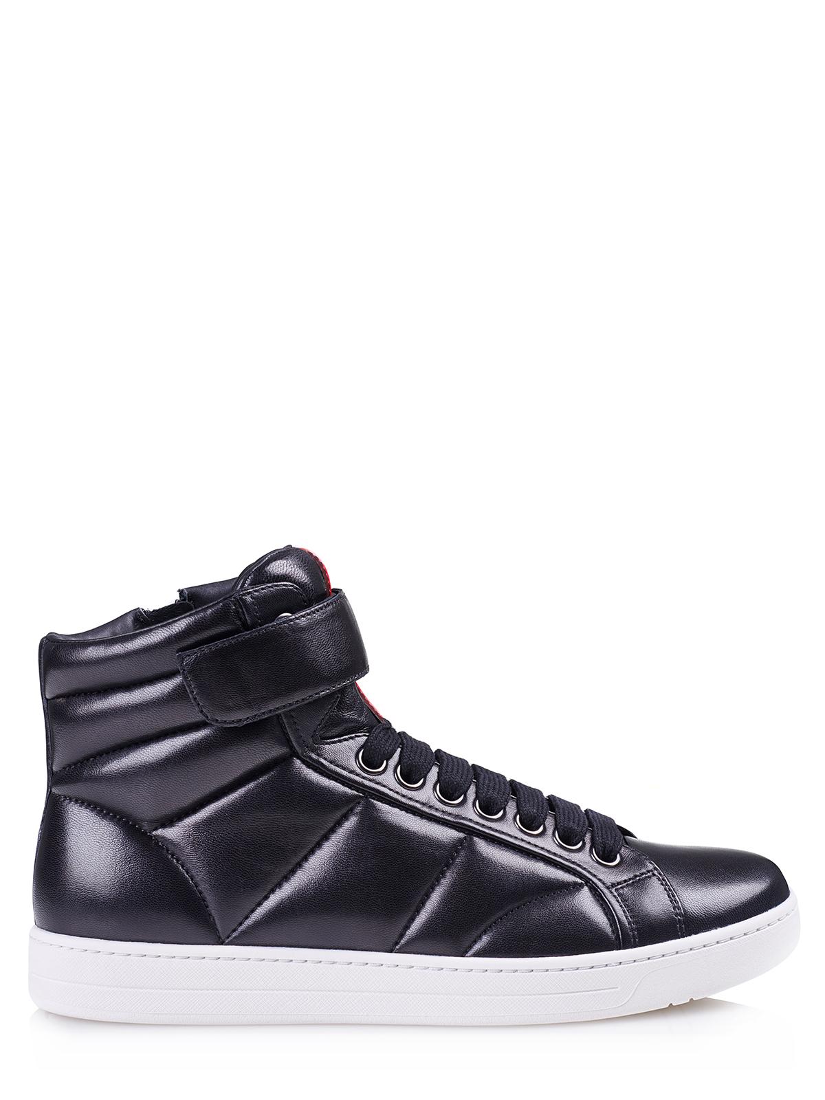 prada shoes 4t3024 black leather ebay. Black Bedroom Furniture Sets. Home Design Ideas