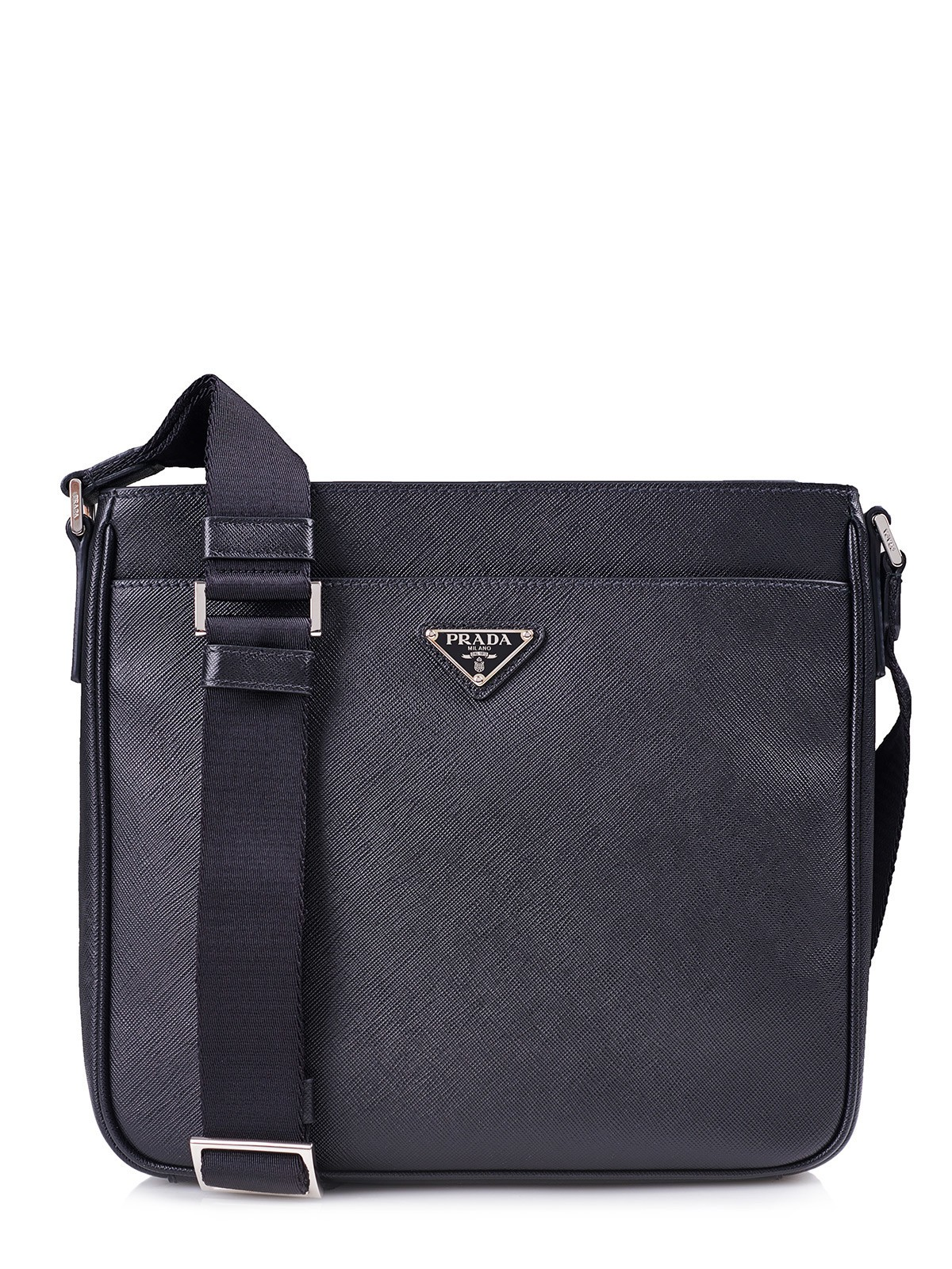 prada tasche bag 2vh086 schwarz 100 leder leather. Black Bedroom Furniture Sets. Home Design Ideas