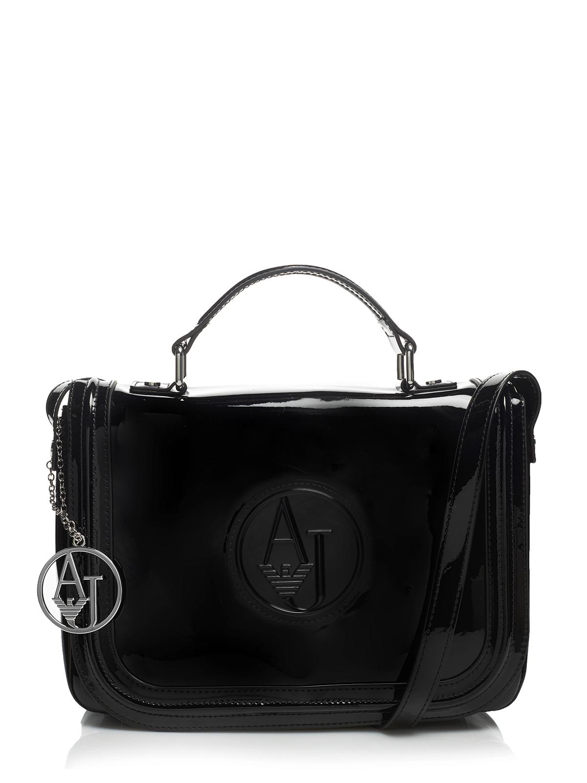 armani jeans tasche bag 922506 cc850 schwarz ebay. Black Bedroom Furniture Sets. Home Design Ideas
