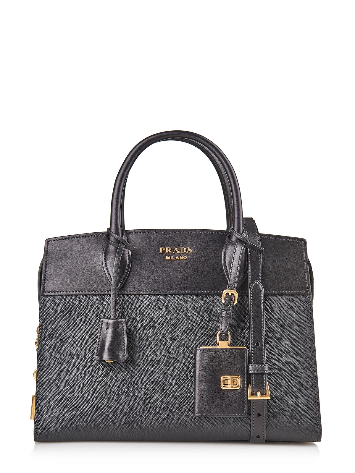 prada tasche bag 1ba046 schwarz 100 leder leather ebay. Black Bedroom Furniture Sets. Home Design Ideas