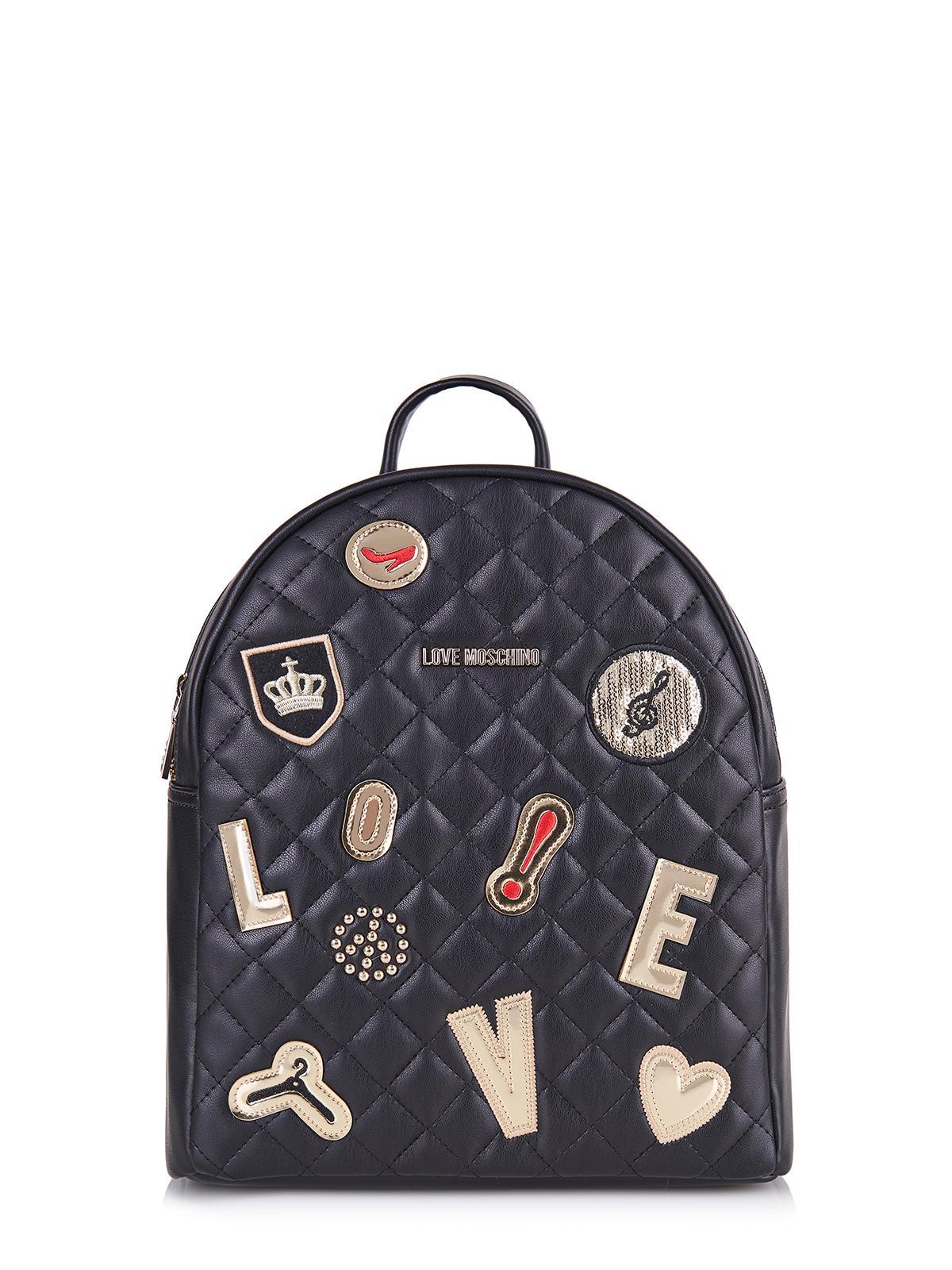 love moschino tasche bag jc4093pp12lo0000 schwarz ebay. Black Bedroom Furniture Sets. Home Design Ideas