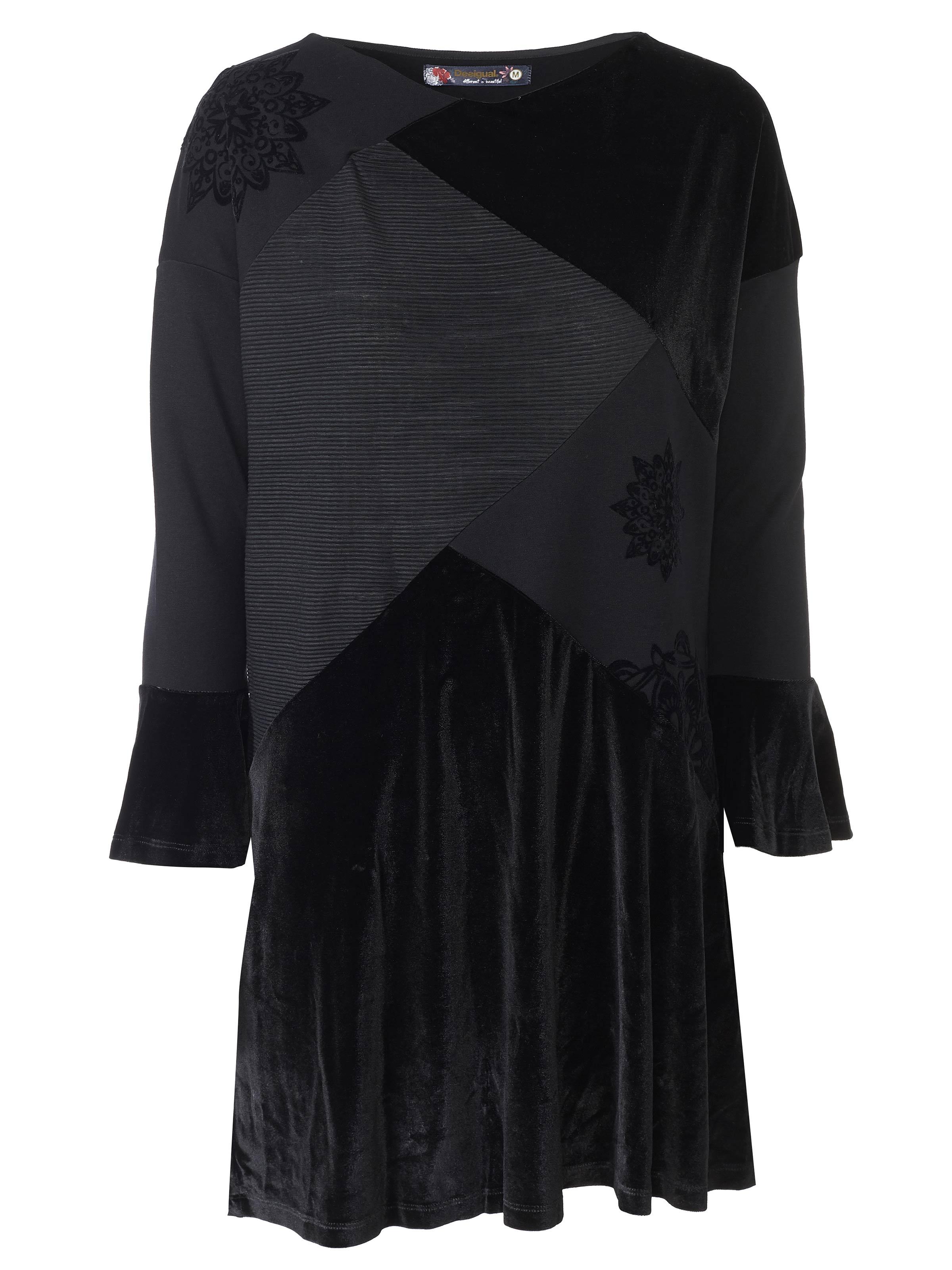 details zu desigual kleid / dress 69v20d0 schwarz